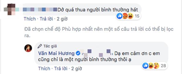 Bị chê hát dở chẳng khác người bình thường khi cover bản hit của Khởi My, Văn Mai Hương có pha đáp trả cực chất khiến ai cũng ố á - Ảnh 4.