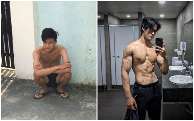 Thanh niên da bọc xương lột xác thành trai cơ bắp nhờ tăng 20kg trong một năm: Còn ai đòi gầy để đẹp nữa không? - Ảnh 1.