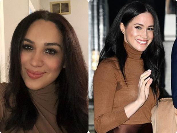 Bản sao của Meghan Markle: Nữ tiếp viên 32 tuổi đổi đời nhờ ngoại hình giống kinh ngạc, style ăn mặc cũng y chang - Ảnh 4.