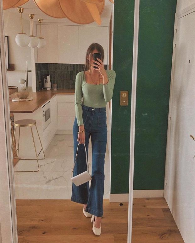 Mắc 4 sai lầm này khi diện quần jeans, các chị em đã tự đưa tên mình vào top mặc xấu chốn công sở - Ảnh 4.