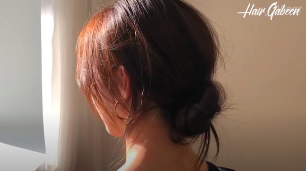 3 kiểu tóc búi thấp gái Hàn diện nguyên hè: Mát lịm mà vẫn cực sang, chưa mất 1 phút đã xong ngay - Ảnh 6.