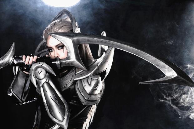 Ngất ngây với vẻ đẹp của nữ cosplayer hóa thân đủ kiểu tướng LMHT, không những ma mị lại còn cực kỳ cool ngầu! - Ảnh 6.