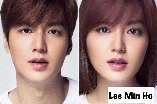 Chết cười với nhan sắc chuyển giới của các nam thần xứ Hàn: Đáng yêu nhất đích thị là quân vương Lee Min Ho - Ảnh 1.