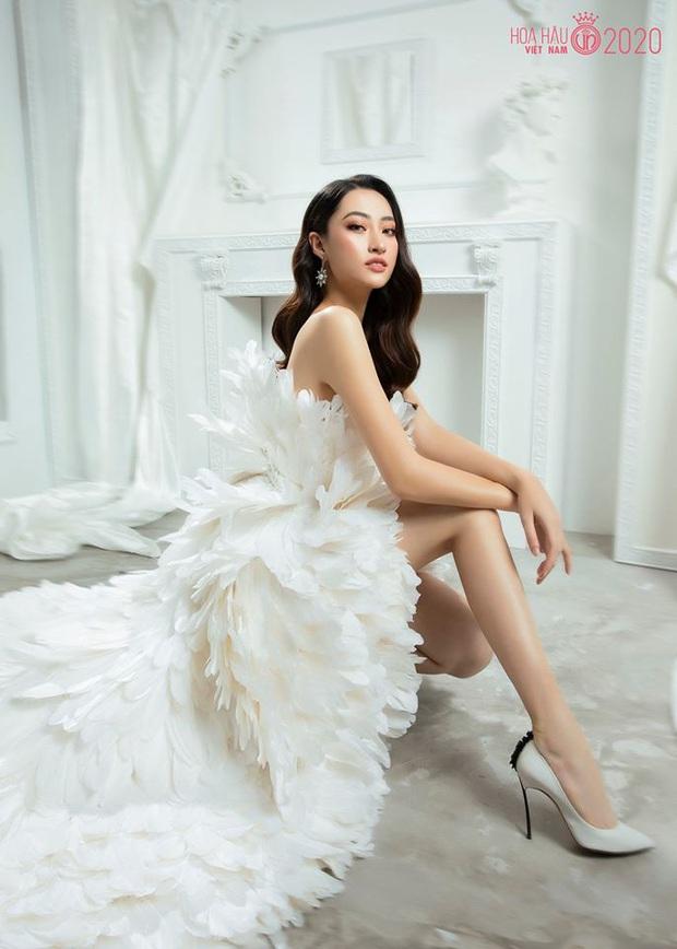 Cùng 1 bộ váy: Ngọc Trinh bỗng kém đẹp so với Lương Thùy Linh vì vóc dáng gầy gò, trơ xương thiếu sức sống - Ảnh 3.