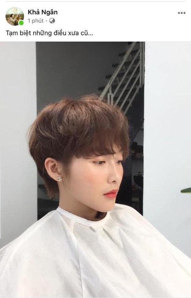 Lần đầu cắt phăng mái tóc dài, Khả Ngân tâm trạng đăng status tạm biệt gây hoang mang: Chuyện gì đang xảy ra? - Ảnh 2.