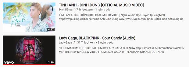 Trending YouTube lag cực mạnh: Bích Phương tàu lượn về #1 rồi rơi xuống #3, Lady Gaga cùng BLACKPINK đang #5 tụt hẳn xuống #24 trong 1 ngày? - Ảnh 7.