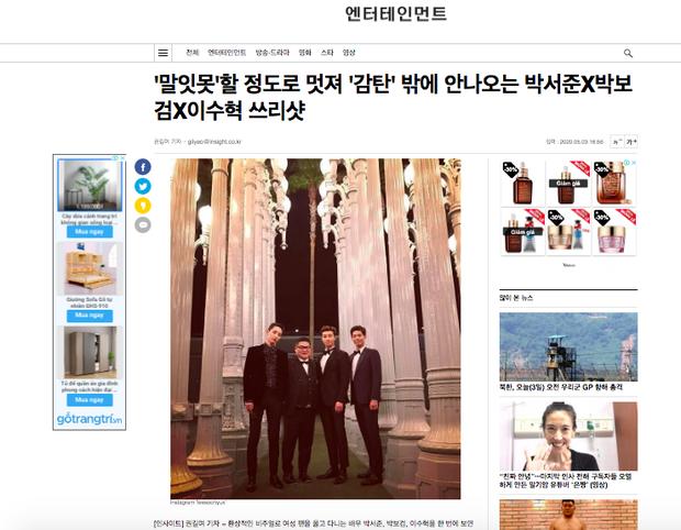Bức ảnh gây bão MXH: 3 chân dài cực phẩm Park Bo Gum, Park Seo Joon, Lee Soo Hyuk biến sao nam thành nấm lùn lọt thỏm - Ảnh 6.