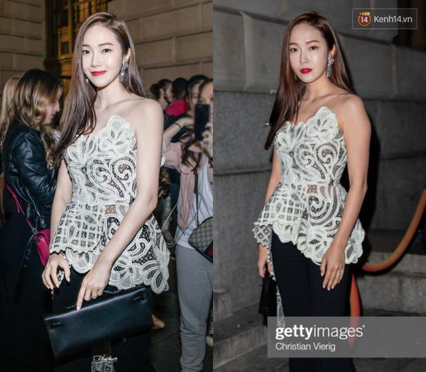 Tội Jessica, cứ đi sự kiện quốc tế là bị bóc sạch nhan sắc thật: Ảnh PTS khác hẳn thực tế, sốc nhất là 2 lần ở Cannes - Ảnh 3.