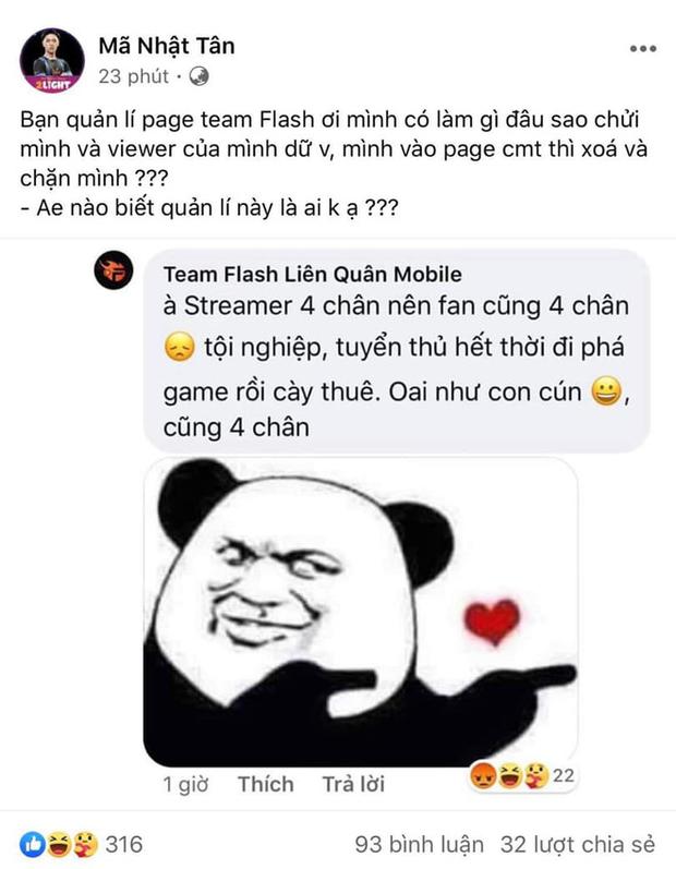 Hít hà drama: Admin fanpage Team Flash cà khịa streamer Anh Mã khiến cộng đồng Liên Quân dậy sóng! - Ảnh 5.