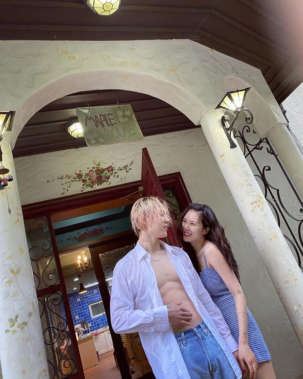 Couple thị phi Hyuna - Dawn khoe ảnh mùa hè mát mẻ, tưởng netizen chú ý tới đằng gái, ai dè body đằng trai hot hòn họt - Ảnh 4.