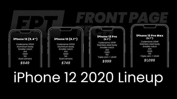Lộ bảng giá iPhone 12: Mức giá khởi điểm còn ngon nghẻ hơn cả iPhone 11? - Ảnh 2.