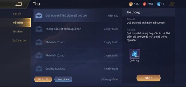 Liên Quân Mobile: Game thủ được Garena bonus thêm 999 Quân Huy sau vụ xóa Rương skin - Ảnh 3.