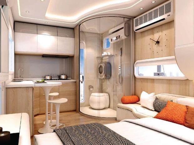 Choáng ngợp với nội thất trong căn nhà thông minh dành cho 4 người: Thiết kế như tàu vũ trụ, nhìn qua là muốn ở liền - Ảnh 2.