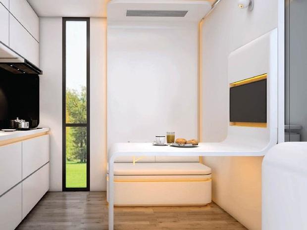 Choáng ngợp với nội thất trong căn nhà thông minh dành cho 4 người: Thiết kế như tàu vũ trụ, nhìn qua là muốn ở liền - Ảnh 7.