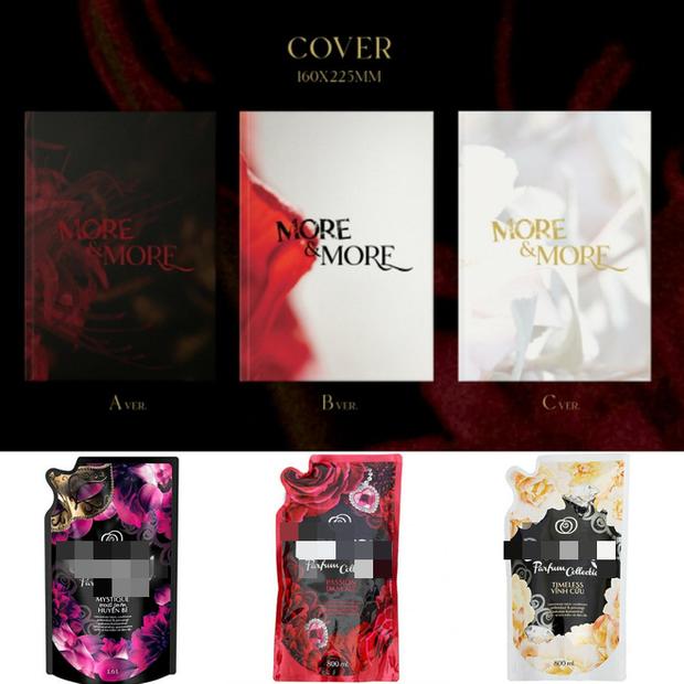 JYP thiết kế bìa album cho TWICE muôn đời vẫn phèn như vậy: Hết bị tố xài chùa stock miễn phí trên mạng, giờ lại mượn cả ý tưởng từ... nước xả vải? - Ảnh 4.