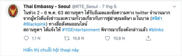 Lisa (BLACKPINK) bị dọa giết, YG cuối cùng đã chịu lên tiếng sau khi Đại sứ quán Thái Lan có động thái đáng chú ý - Ảnh 2.