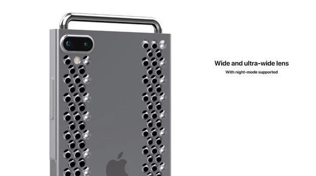"""Concept iPhone 12 """"điên rồ"""" chưa từng thấy: Chẳng khác gì cái nạo phô mai được gắn bánh xe như Mac Pro - Ảnh 3."""