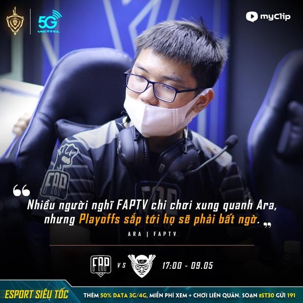Ara tuyên bố FAPTV sẽ mang đến bất ngờ ở vòng play-off, Elly, Turtle ngay lập tức bắt bài - Ảnh 1.