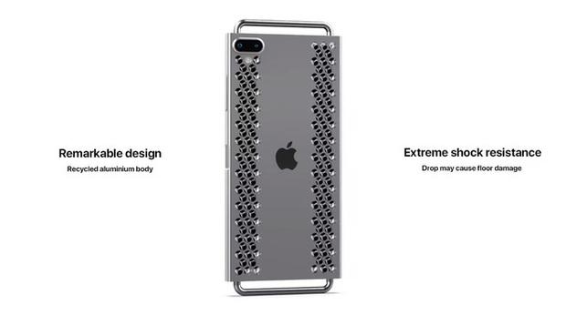 """Concept iPhone 12 """"điên rồ"""" chưa từng thấy: Chẳng khác gì cái nạo phô mai được gắn bánh xe như Mac Pro - Ảnh 4."""