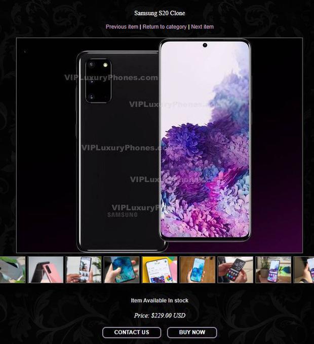 Xuất hiện điện thoại giả mạo Galaxy S20 và Z Flip của Samsung, khác mỗi việc không có nút bấm vật lý - Ảnh 4.