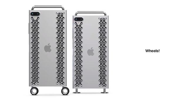 """Concept iPhone 12 """"điên rồ"""" chưa từng thấy: Chẳng khác gì cái nạo phô mai được gắn bánh xe như Mac Pro - Ảnh 8."""