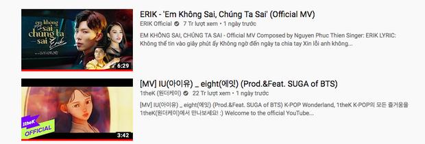 Erik chưa kịp ấm chỗ top 1 trending đã phải dè chừng, fandom của IU và BTS đang hợp sức bám đuổi sát nút rồi đây này! - Ảnh 3.