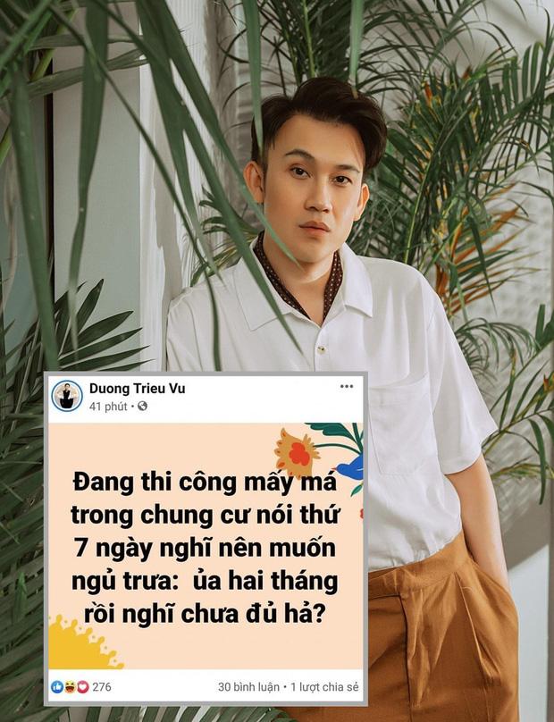 Dương Triệu Vũ tiếp tục lên tiếng sau status       gây tranh cãi về việc sửa nhà trưa Thứ 7: Điều tôi cảm thấy khó chịu đây là sự thiếu tình người, tình hàng xóm -       Ảnh 1.
