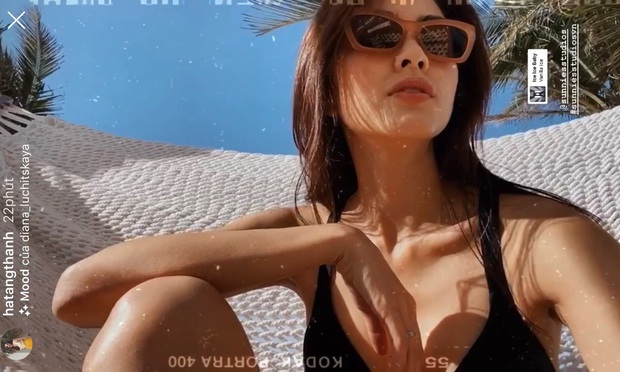 Hà Tăng diện áo khoét ngực khoe sương sương vẻ ngoài gợi cảm, gia nhập hội mỹ nhân Vbiz ra biển đón hè sớm - Ảnh 2.