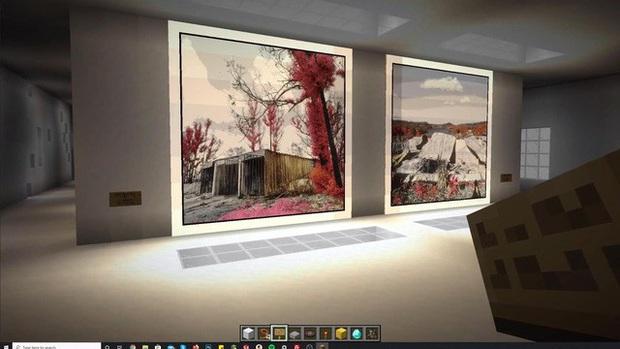 Nhiếp ảnh ra tạo phòng triển lãm ảo trong Minecraft để gây quỹ từ thiện - Ảnh 1.
