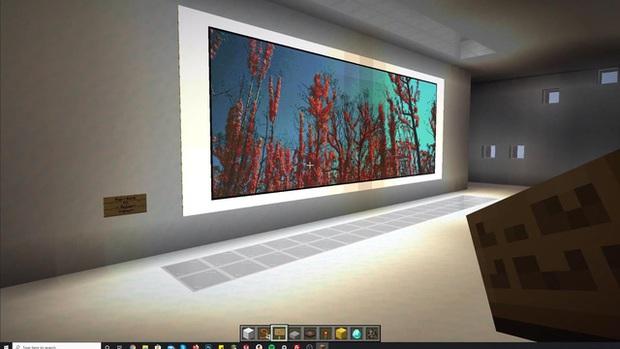 Nhiếp ảnh ra tạo phòng triển lãm ảo trong Minecraft để gây quỹ từ thiện - Ảnh 4.