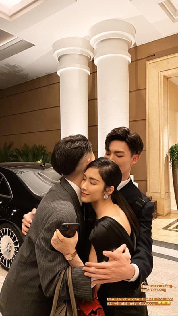Gia đình Hoa dâm bụt tụ họp mừng sinh nhật Hoà Minzy, khoảnh khắc cô nàng bên bạn trai doanh nhân chiếm sóng MXH - Ảnh 4.
