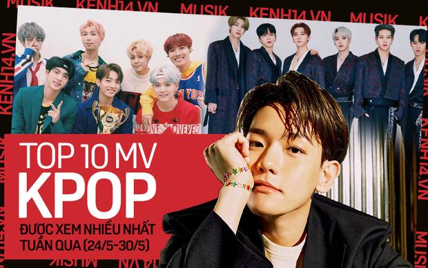 10 MV Kpop được xem nhiều nhất tuần: Baekhyun và MONSTA X comeback mạnh mẽ vẫn không thắng nổi Suga; BTS chạy đua cột mốc tỷ views - Ảnh 1.