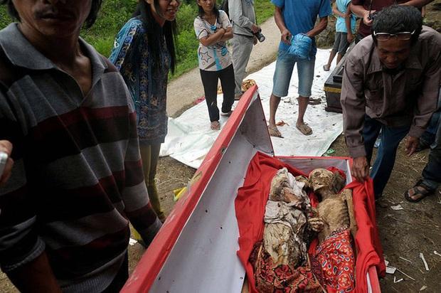 Sống chung và vệ sinh thi thể người chết: Việc làm nghe rùng rợn nhưng là văn hóa người Toraja cùng những lễ tang đắt đỏ thể hiện sự giàu sang - Ảnh 6.