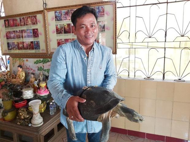 Kỳ lạ cụ rùa hơn trăm tuổi ở miền Tây biết... nghe kinh, ăn chay và giữ cửa - Ảnh 7.