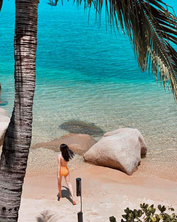 Góc ghen tị: Trong khi chúng ta phân vân hè này đi đâu cho tiết kiệm thì Bảo Thy 4 tuần đã check-in ở 4 bãi biển khác nhau - Ảnh 8.