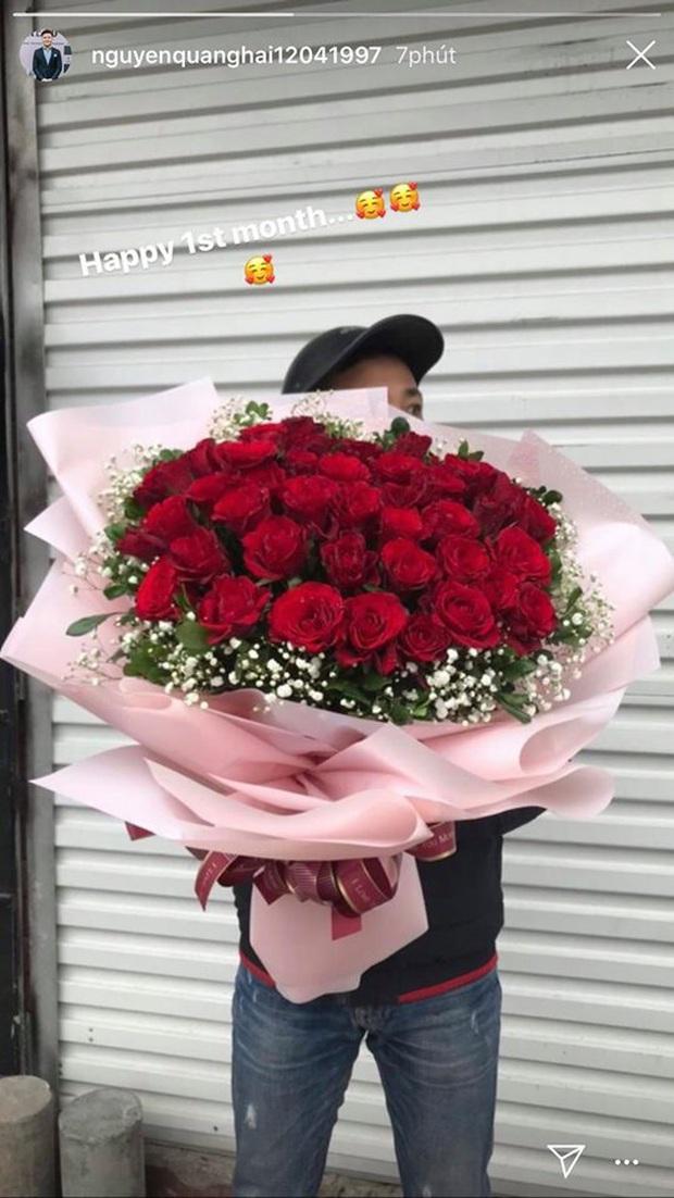 Quang Hải tặng hoa hồng khủng cho Huỳnh Anh kỷ niệm 1 tháng công khai hẹn hò, nhưng hình như có gì sai sai? - Ảnh 2.