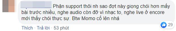 Momo (TWICE) bị netizen chê bai tơi tả khi hát live mừng chiến thắng, cất giọng 1 câu siêu choé rồi lộ vẻ khó xử ra mặt - Ảnh 6.