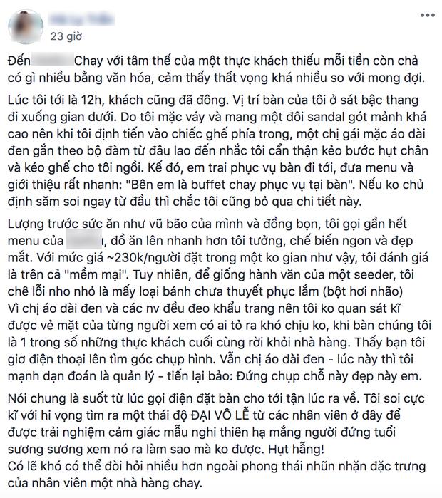 Tranh cãi về sự thiếu tôn trọng khách của quản lý 1 nhà hàng chay ở Hà Nội: người đồng tình, người phản ứng gay gắt, phía nhà hàng đã nói gì? - Ảnh 3.