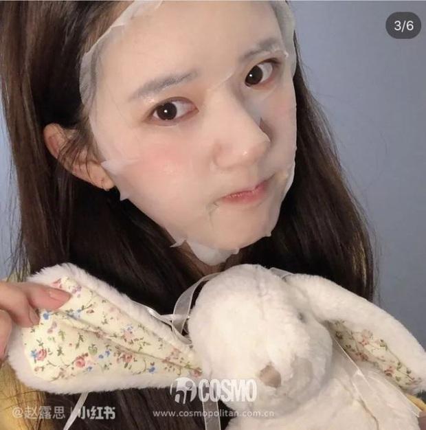 Mỹ nhân Trần Thiên Thiên Triệu Lộ Tư hay bị chê mặt to nhưng nhìn cô đắp mặt nạ thì netizen mới ngã ngửa vì sự thật - Ảnh 7.