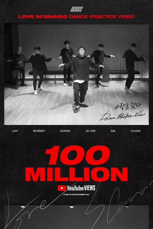 iKON là nhóm nam thứ 4 đạt mốc view khủng cho video vũ đạo, được YG đăng poster ăn mừng nhưng gây tranh cãi vì không có B.I - Ảnh 2.
