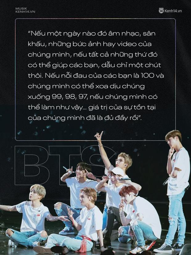 """Âm nhạc chữa lành"""" mang tên BTS: """"Nếu nỗi đau của các bạn là 100 và chúng mình có thể xoa dịu chúng xuống 99, 98… thì giá trị tồn tại của BTS đã đủ đầy rồi"""" - Ảnh 30."""