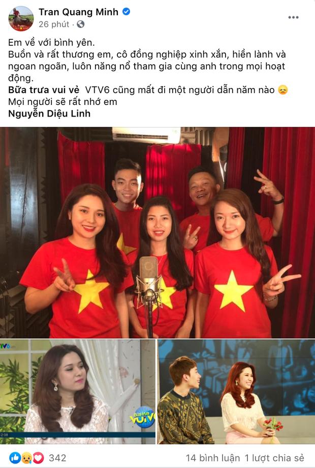 """Đồng nghiệp ở VTV và các đài truyền hình xót xa khi nghe tin MC Diệu Linh qua đời: """"Sẽ không còn đau khổ em nhé"""" - Ảnh 4."""