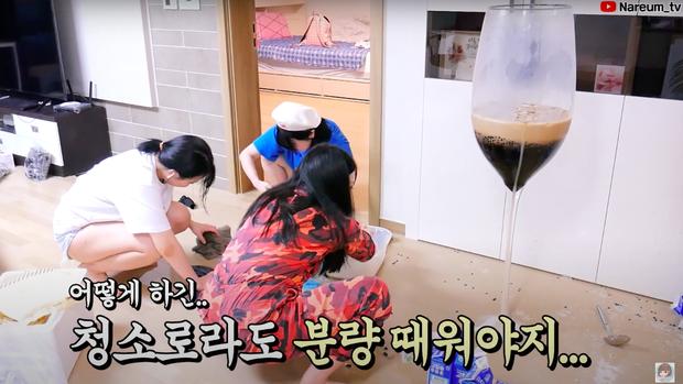 Làm trà sữa trân châu khổng lồ giống Bà Tân Vlog, Youtuber người Hàn lại có cái kết khiến dân mạng cười xỉu: Dọn nhà đến ốm luôn quá! - Ảnh 6.