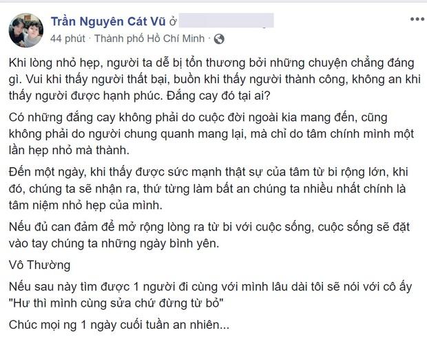 Trương Quỳnh Anh xác nhận từng cố gắng tái hợp nhưng bất thành, Tim liền đăng dòng trạng thái đầy ẩn ý - Ảnh 2.