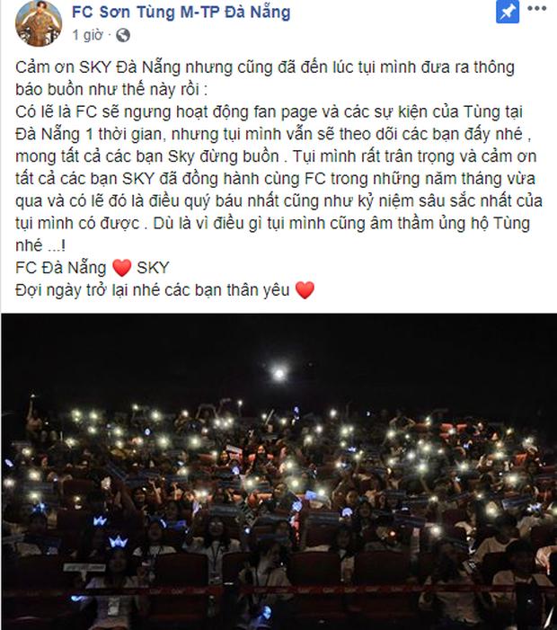 Người hâm mộ của Sơn Tùng M-TP sao thế này: hết FC Đà Nẵng ngừng hoạt động giờ đến FC Hà Nội cũng rút lui, fan hoang mang tột độ! - Ảnh 4.