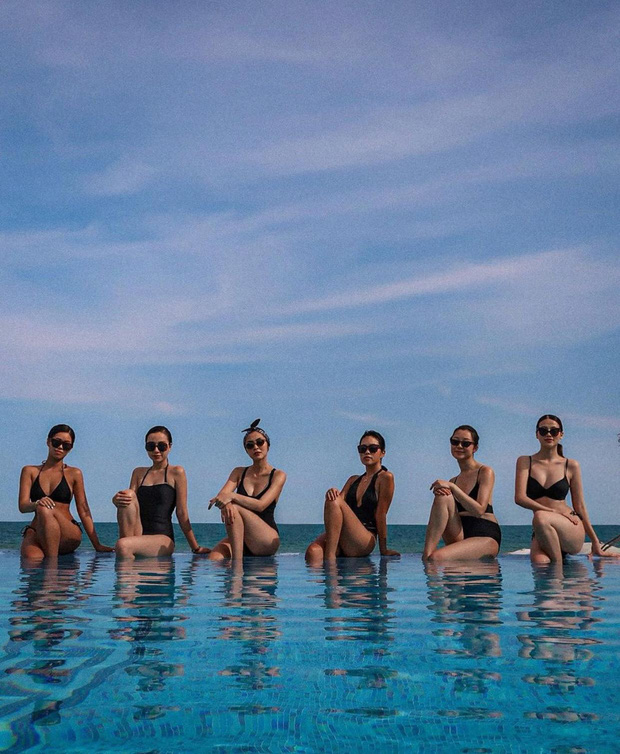 Hội bạn sang chảnh của Hà Tăng - Tiên Nguyễn đồng loạt diện bikini khoe body, mẹ 2 con đốt mắt với vòng 1 căng tràn - Ảnh 2.