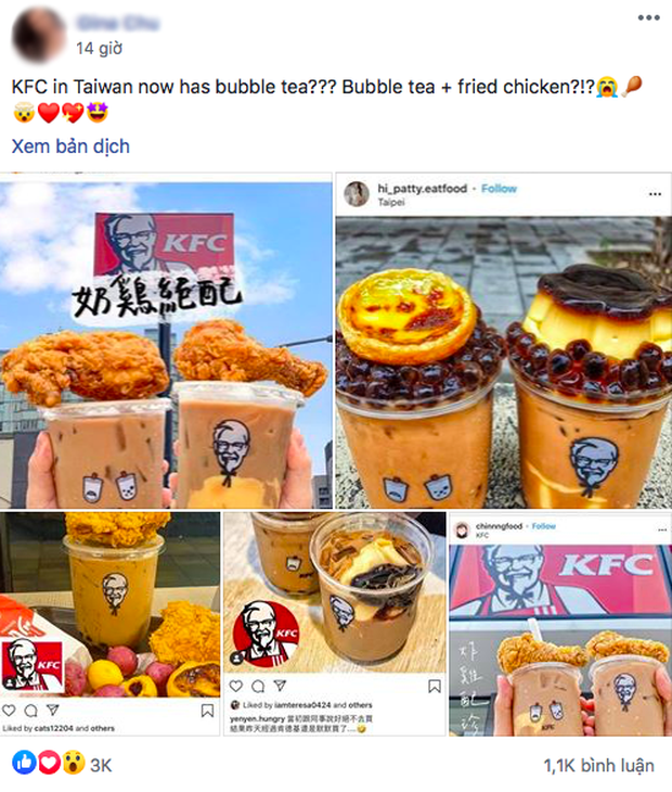 """KFC ra mắt trà sữa trân châu, có combo bán kèm gà rán: Vậy là kế hoạch ăn kiêng """"ra chuồng gà - Ảnh 3."""