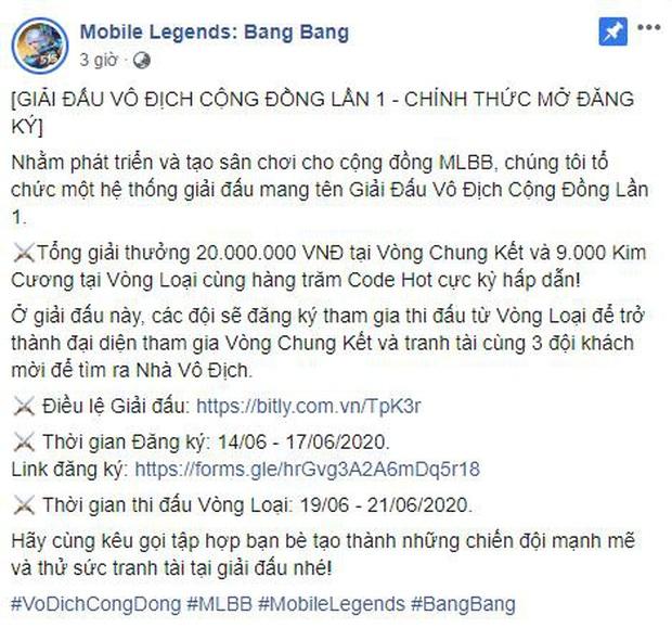 VNG cuối cùng cũng tổ chức giải đấu Mobile Legends: Bang Bang, dân tình cảm thán giải cộng đồng sao lắm điều khoản - Ảnh 1.