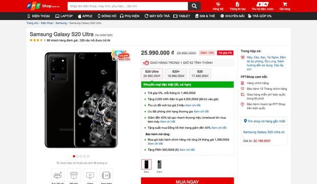 Samsung Galaxy S20 Ultra giảm giá bất ngờ sau 3 tháng ra mắt, nhưng iPhone 11 Pro Max vẫn là hàng hot - Ảnh 2.