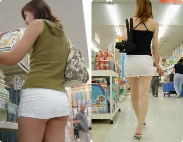Đi siêu thị mua đồ mà cũng diện váy khoét nọ xẻ kia, đây là những bộ cánh của chị em khiến ai cũng phải... câm nín - Ảnh 2.